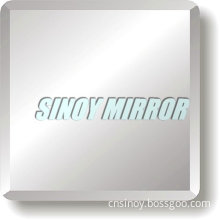 Beautiful Beveled Silver Bathroom Mirror, Italy Fenzi Water- Proof Paint Double Coated