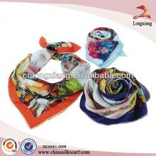 90 * 90 Lenço quadrado de seda com selo de alta qualidade com impressão digital