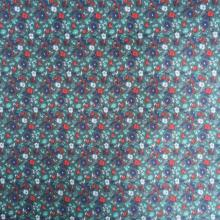 Flower Green/Navy Printed Lining