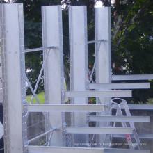 Système de rayonnage de stockage en porte-à-faux robuste pour les objets longs