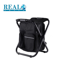Most popular wholesale cheap used metal folding chairs portable stool with cooler bag