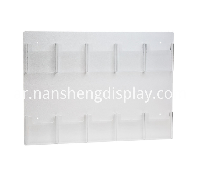Clear Acrylic Wall Mount Brochure Holder