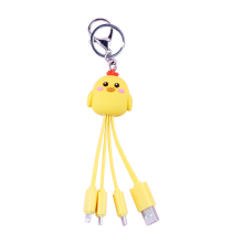 New Data 3 in 1Cable Cultural And Creative 12 Zodiac Animal Data Cable Cute Keychain Charging Cable Can Set Logo