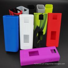 2016 Novo Produto Cuboid Mini 80W Silicone Cigarette Borracha Case / Pele / Manga / Tampa / Enclosure / Decal / Wrap para Kit Cuboid Atacado com Multi Color Choice