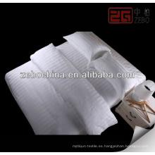 Blanco 100% algodón sateen hotel vida hoja establece