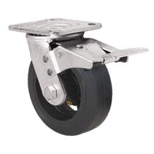 Série de Rodízios para Serviço Pesado - 8 pol. W / freio duplo - roda de borracha