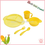 clear biodegradable breakfast non toxic soup bowl baby feeding supplies plates set