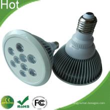 Weiße Lamellen Gehäuse E27 PAR38 9W LED-Lampe