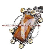 Ray Of Light !! Turkish Blue Onyx & White CZ 925 Sterling Silver Pendant, Handmade Silver Jewelry, Silver Jewelry Wholesaler