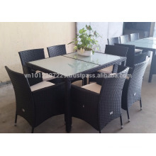 Wicker Outdoor / Garden Furniture - Dining set 1+8