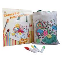 kids diy craft me colorindo pintando sacolas de compras de algodão