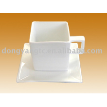 Fornecimento de atacado direto da fábrica quadrado forma xícara de café de cerâmica