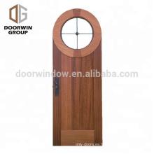 EE. UU. Roble teca aliso madera de cerezo madera ovalada interior vidrio círculos puerta de entrada principal principal Puertas de talla interior de madera maciza