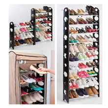 10-Layer Metal Shoe Rack with Cover (FH-SR00210)