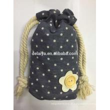 Saco bonito da embalagem da promoção do saco de algodão do cordão dos pontos