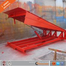 Capacidad de carga de 6 toneladas. Rampa de patio ajustable nivelador de muelle hidráulico fijo