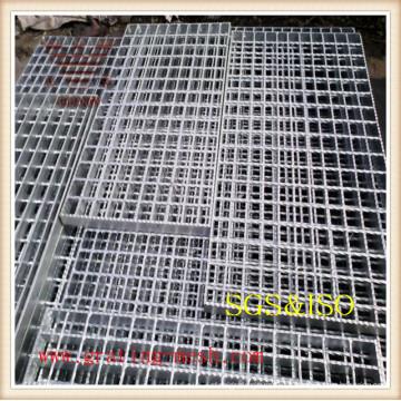 Grating de aço galvanizado liso / padrão