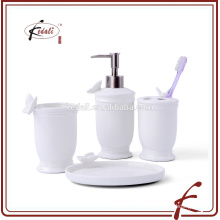 Ceramic Bathroom Set With Butterfly