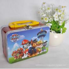 Metal Lunch Tin Box / Tin Box com Handle / Metal Box