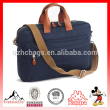 fashionable laptop bag with leather handle