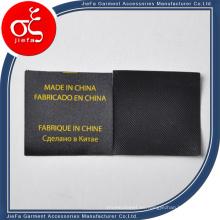 Etiqueta impresa negro personalizado del lavado en seco para la etiqueta / la etiqueta del cuidado del regalo / de la ropa