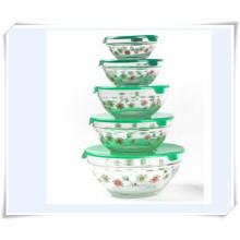 Cajas de Almacenamiento de Alimentos Glass Ice Bowl