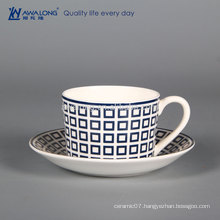Western Style Elegant Design Fine Bone China Coffee Cup, Wholesale Christmas Cup