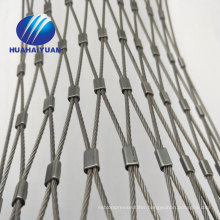 Zoo mesh rope netting decorative mesh price stainless steel wire rope cable mesh