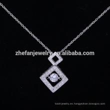 Venta caliente colgante de joyería de acero inoxidable joyería jayed colgante de joyería de plata para novia