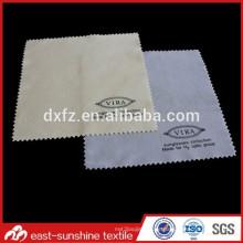 Kundenspezifisches Logo gedrucktes graues Mikrofaser-Abnutzungs-Gläser-Reinigungstuch