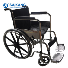 SKE102 Hospital Comfortable Chromed Steel Wheelchair