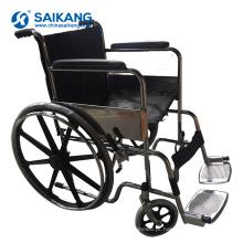 SKE102 hospital confortável cadeira de rodas de aço cromado