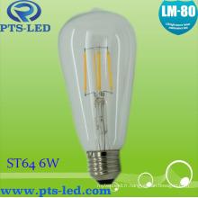 St64 6W ampoule à Filament Dimmable