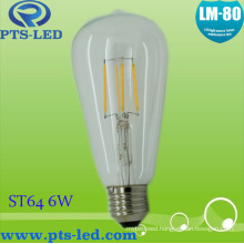 St64 6W Dimmable Filament Bulb