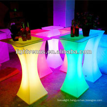50 meters remote control factory direct sale color changing cocktail bar furniture