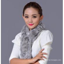Lady Fashion Real Rex Rabbit Fur Winter Scarf (YKY4362)