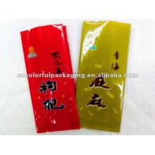bolso de empaquetado de alimentos desechables impreso lateral del pequeño escudete
