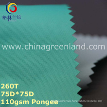 100%Polyester Pongee Coating Fabric for Textile Garment (GLLML250)