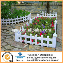 plastic galvanized steel garden fence outside pvc steel lawn fence