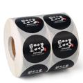 Custom Glossy Circle Adhesive Sticker Printing Round Label
