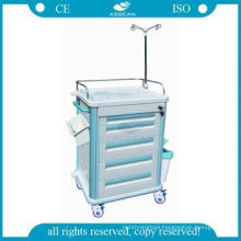 Simple design medical equip abs clinic emergency crash cart