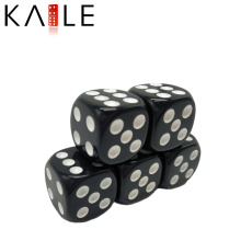 15 мм круглый угол черный с белыми точками пользовательские кубики