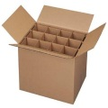 Corrugated cardboard wine shipping packaging