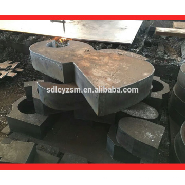 ss400 steel plate frame cutting
