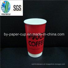 Copo quente do papel do café da venda