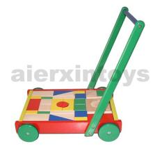 Корзина деревянных блоков с блоками 36PCS (80024)