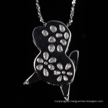 Special Shape Pendant Low Price Fashion Silver Jewellry Necklace