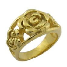 Art- und Weiseentwurfs-18k Goldschmucksache-Rosen-Blumen-Ring