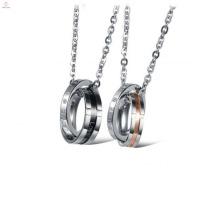 2018 Nuevo producto de la llegada joyería de la venta caliente collar de piezas de rompecabezas de acero inoxidable a juego