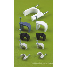 Circle Cable Clips (PE, WHITE)